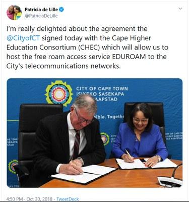 City of Cape Town announces eduroam in public libraries